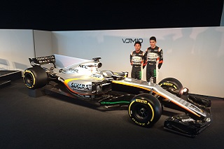 © Force India - Sergio Pérez et Esteban Ocon inaugurent en grande pompe leur nouvel atout