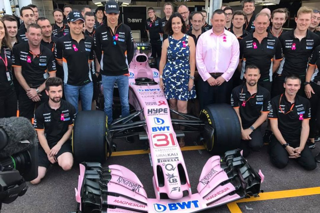 Sahara Force India s'associe à la lutte contre le cancer du sein