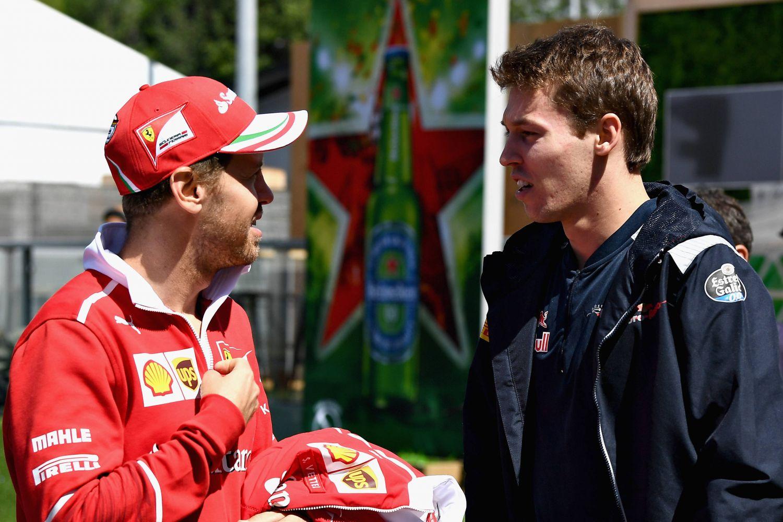 © David Ramos/Getty Images - Sebastian Vettel et Daniil Kvyat seront désormais coéquipiers chez Ferrari