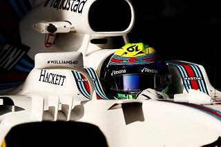 © Williams - Felipe Massa aborde la pause déjeuner en leader, après une séance tronquée par la pluie
