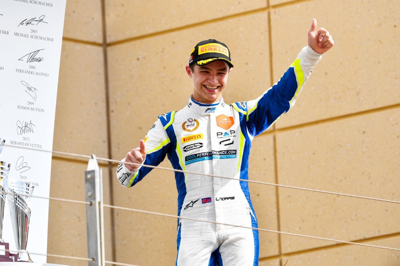 Première victoire pour Lando Norris en F2