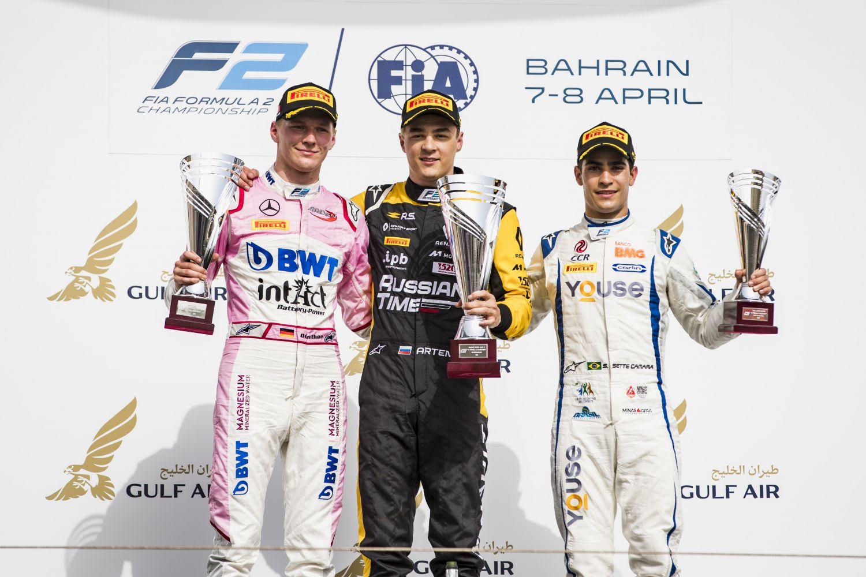 Maximilian Gunther a signé son premier podium en F2