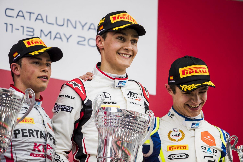 © Zak Mauger / FIA Formula 2 - George Russell enchaîne avec sa deuxième victoire consécutive