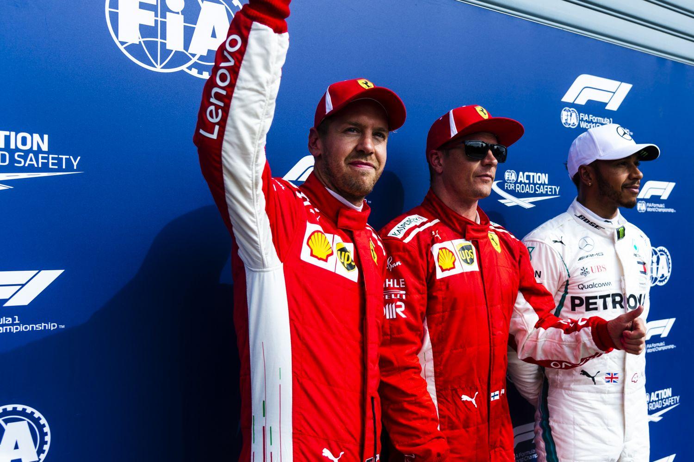 © Ferrari - Première ligne 100% Ferrari à domicile