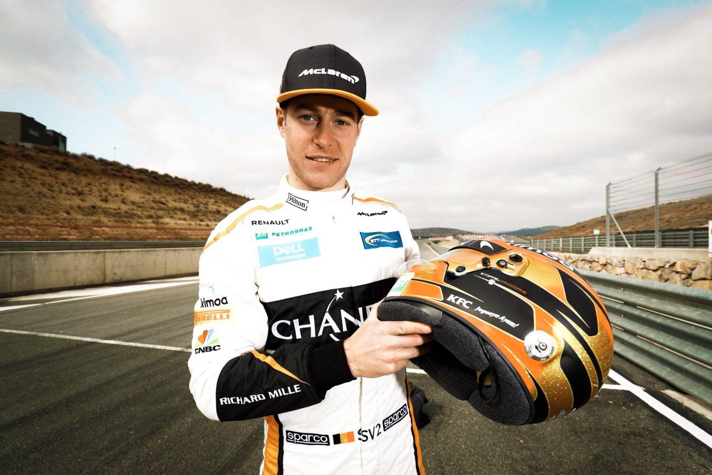 © McLaren - Vandoorne n'a pas la décoration de casque la plus originale...