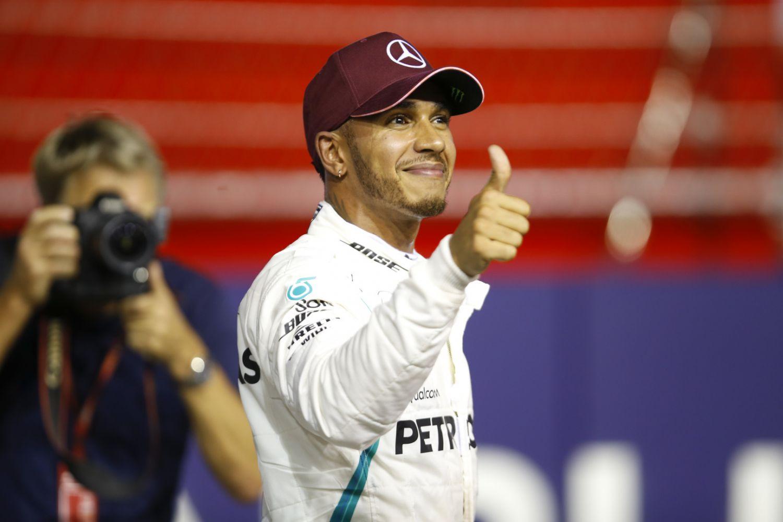 © Mercedes - La satisfaction de Lewis Hamilton, vainqueur de sa septième course en 2018 !