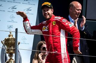© Ferrari - Vettel vainqueur chez Hamilton