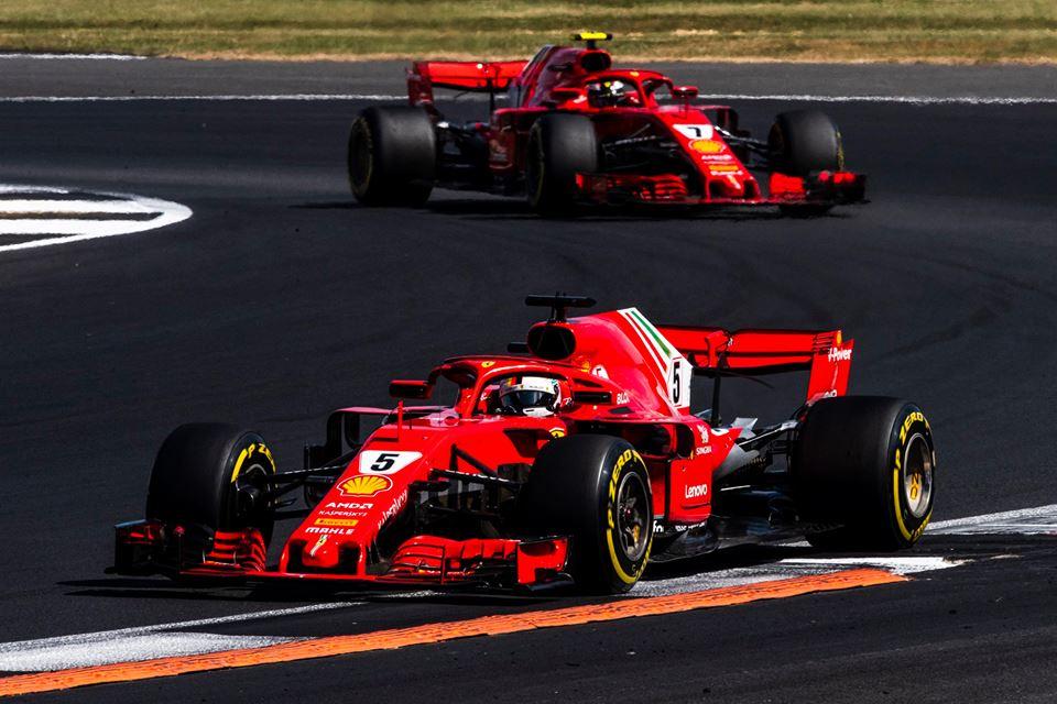 © Scuderia Ferrari - Vettel juste devant Raikkonen : une image fidèle à la réalité des faits