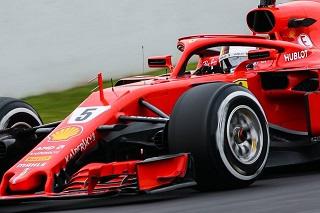 © Laurent Lefebvre - Sebastian Vettel place Ferrari en tête avant les Qualifications