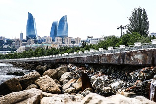 © Renault - Les décors de Bakou sont véritablement uniques