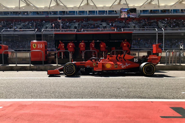 © Ferrari - Course très compliquée pour Leclerc
