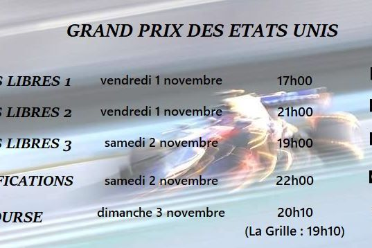Le programme tv du GP du Mexique 2019 de Formule 1