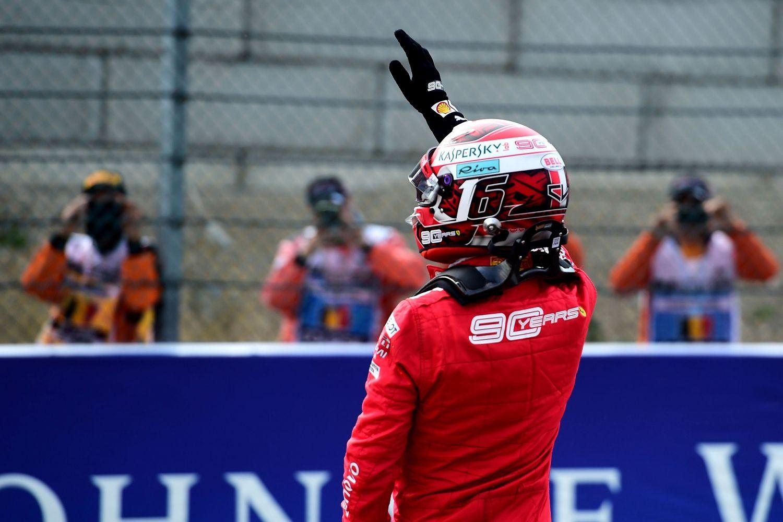 © Ferrari - Charles Leclerc a pointé le doigt vers le ciel de la voiture