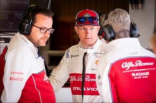 © Alfa Romeo - Julien Simon-Chautemps est l'ingénieur piste de Kimi Raikkonen