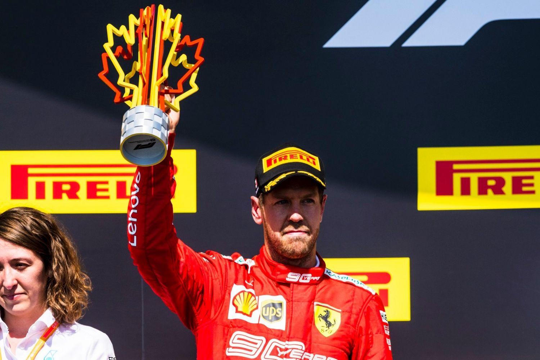 © Ferrari - Une deuxième place au goût amer pour Vettel, qui tenait la victoire jusqu'à la pénalité !
