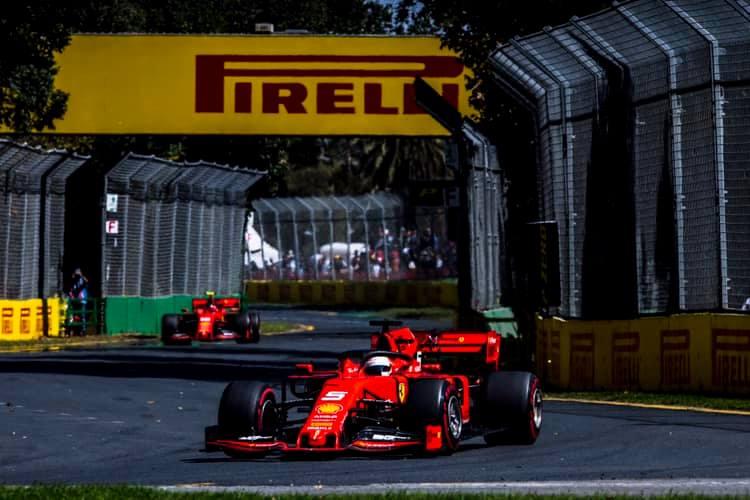 © Ferrari - Vettel a reçu un coup de pouce de son équipe pour garder Leclerc derrière lui jusqu'à l'arrivée.