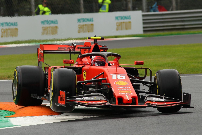 © FIA - Charles Leclerc dans la Ferrari à Monza cet après-midi