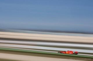 © Ferrari à l'aise sous le soleil de Sakhir