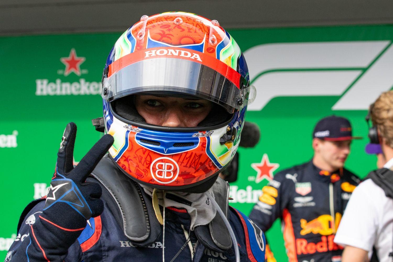 © G. Perez/Motorsinside - Pierre Gasly de retour au parc fermé avec la 2ème place du GP