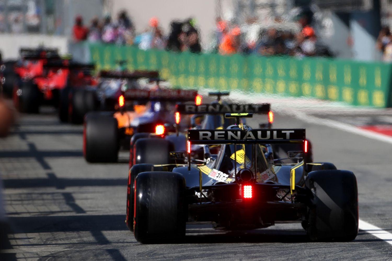 © Renault -  Les pilotes sont sortis en même temps pour le dernier run de la Q3 hier en Italie