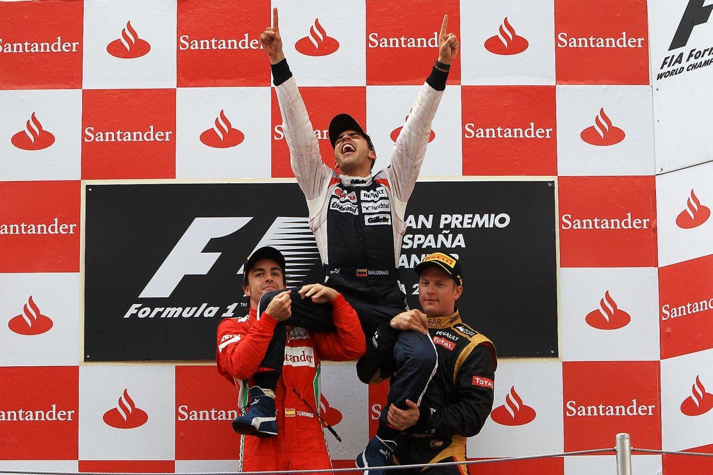 © Williams - Pastor Maldonado fait partie des 16 vainqueurs différents sur le circuit de Catalunya !