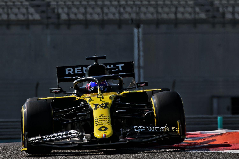 © Renault - Alonso meilleur temps des essais d'Abu Dhabi