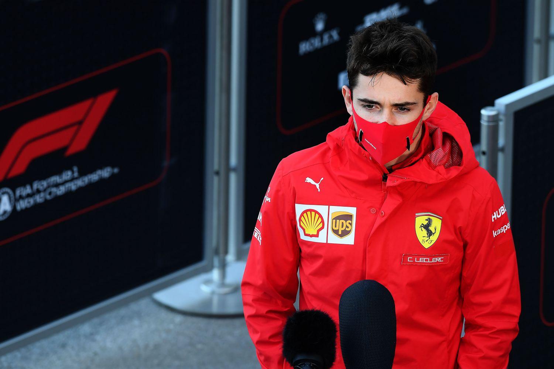 © Ferrari - Leclerc en interview ce matin à Istanbul