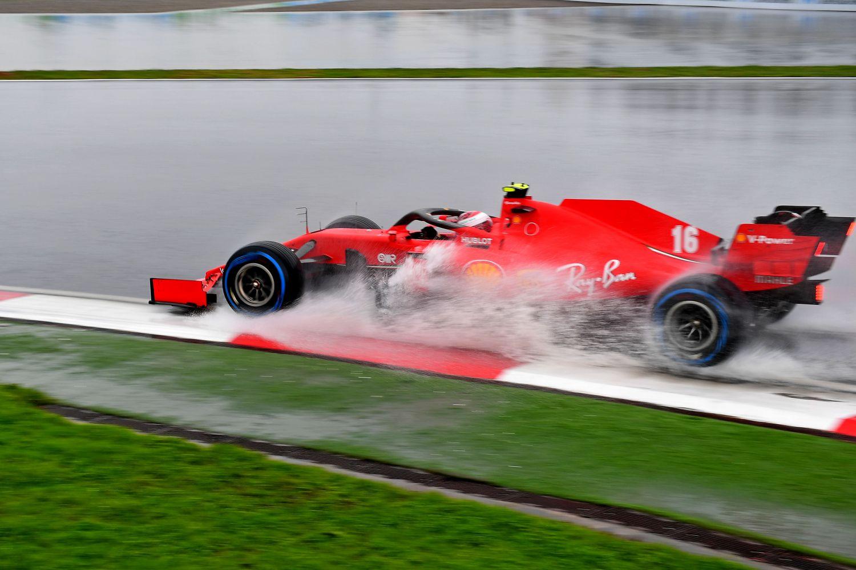 Pluie potentielle pour la course du GP d'Espagne - Ici une Ferrari à Istanbul l'an passé