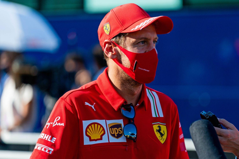 © Ferrari - Vettel en interview à Monza