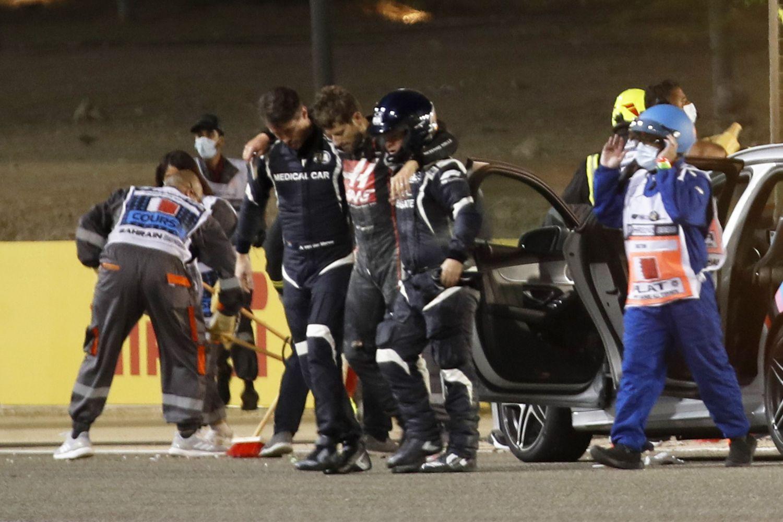 © Haas - Grosjean miraculé d'un terrible accident