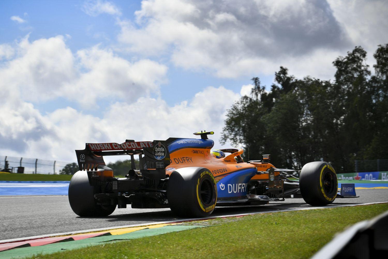 © McLaren - La MCL35 à Spa l'an dernier