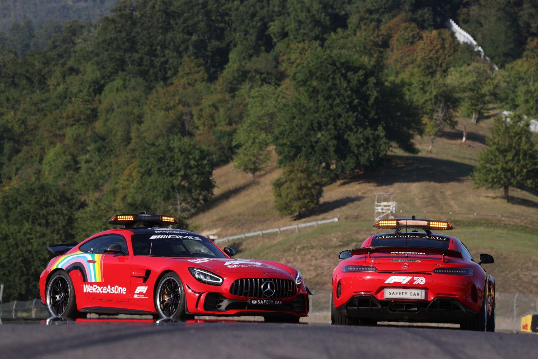 © Mercedes - La Safety Car parée de rouge ce weekend au Mugello