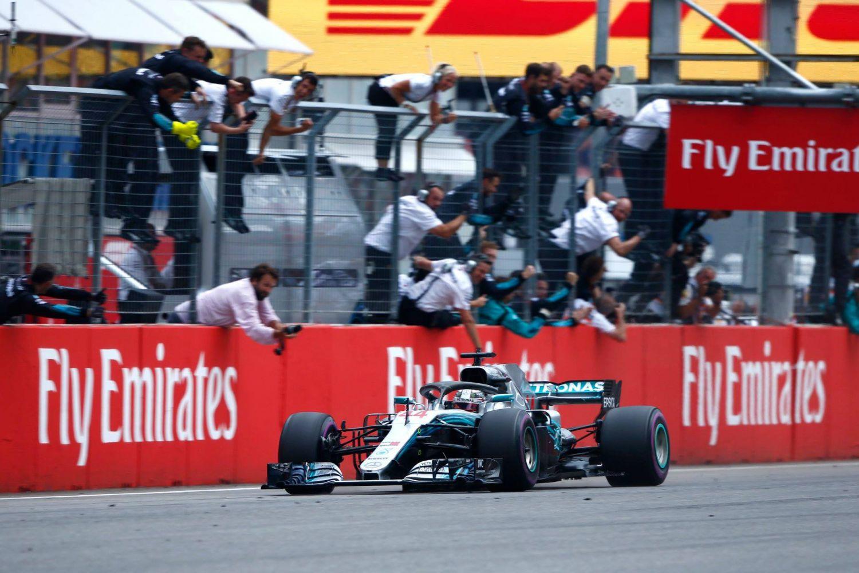 © Mercedes - Lewis Hamilton a gagné une victoire inespérée à Hockenheim en 2018 !