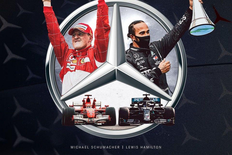 © Mercedes - Michael Schumacher et Lewis Hamilton au sommet de la Formule 1
