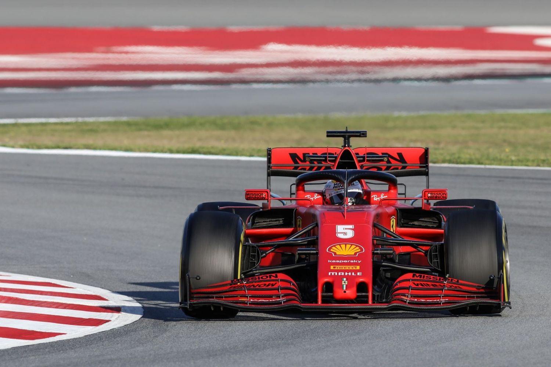 © Motors Inside / L. Lefebvre - Sebastian Vettel durant la journée à Barcelone
