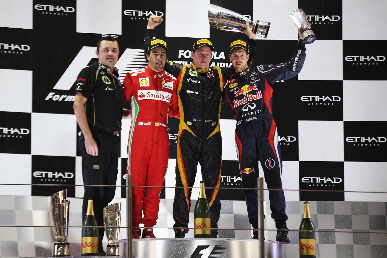 © Red Bull - Un podium avec 5 titres de Champion du monde pour la première victoire de Raikkonen depuis 3 ans