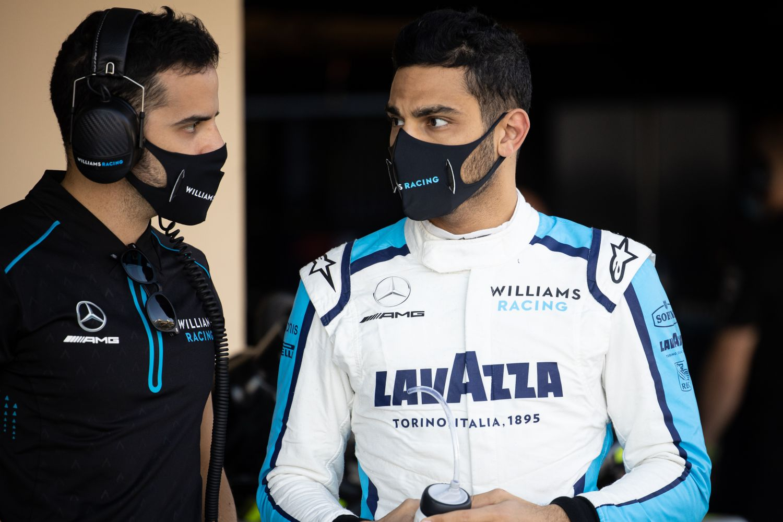 Roy Nissany à Abu Dhabi lors des essais jeunes pilotes avec Williams