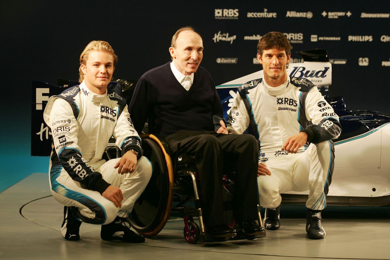 Les débuts tonitruants de Nico Rosberg en catégorie Reine. Ici aux côtés de son patron Frank Williams et de Mark Webber