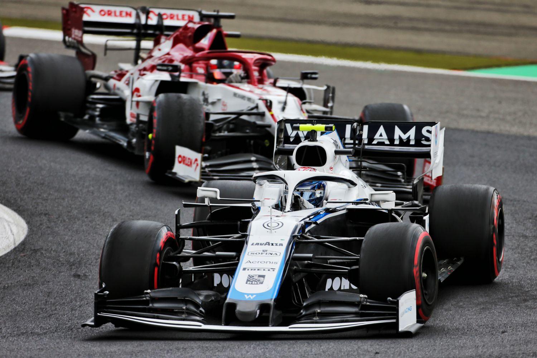 La Williams au Nurburgring en 2020 avec Latifi à son volant