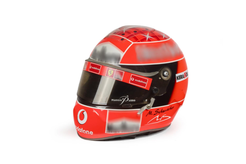 Réplique du casque de Schumacher de 2002