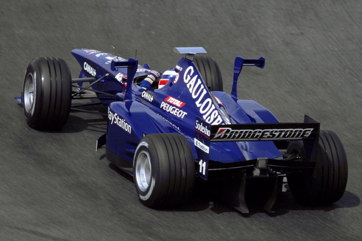 La Prost AP02 de Olivier Panis. 1 seul podium pour Prost GP cette saison 1999 grâce à Jarno Trulli au Nurburgring.