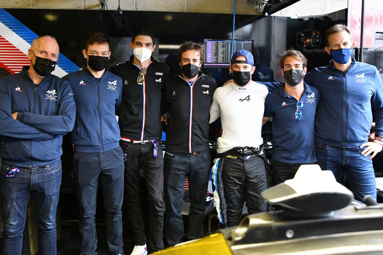 Les pilotes de F1 et les pilotes d'endurance d'Alpine