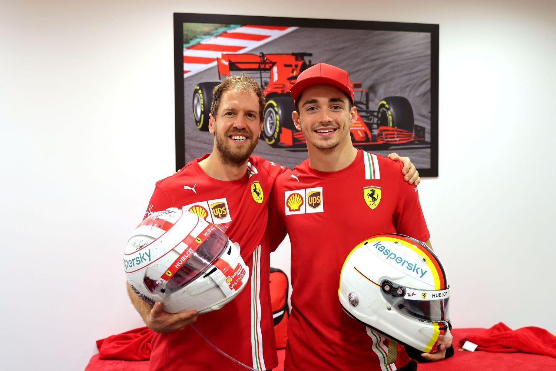 Leclerc s'exprime sur sa relation avec Sebastian vettel chez Ferrari