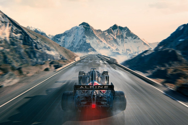 © Alpine - La livrée provisoire diffusée pour annoncer le renommage de l'écurie Renault en Alpine