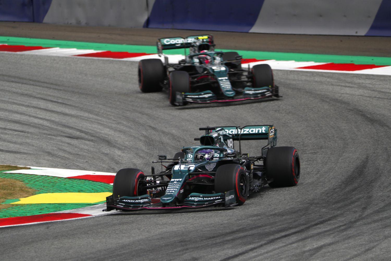 Sébastien Vettel et Lance Stroll lors du grand prix d'Autriche 2021