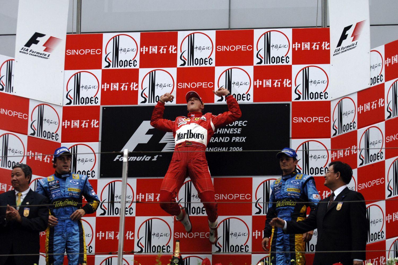 1er octobre 2006, 91ème et dernière victoire de Michael Schumacher en F1