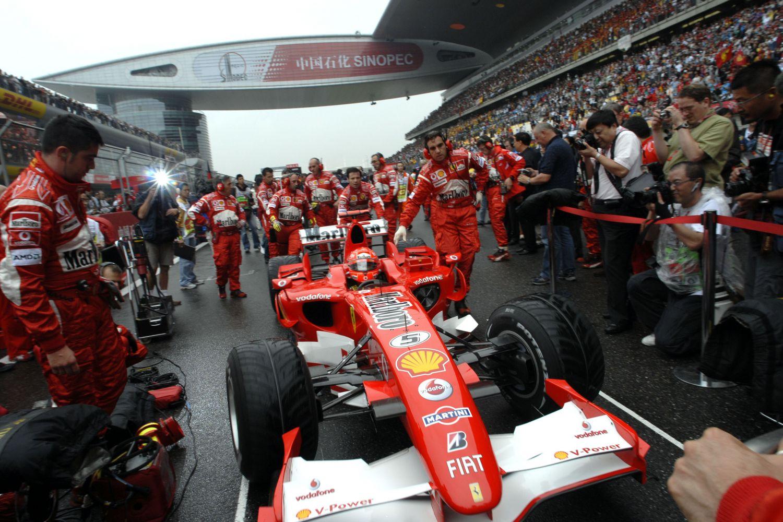 © Ferrari - Michael Schumacher 6 ème sur la grille de départ