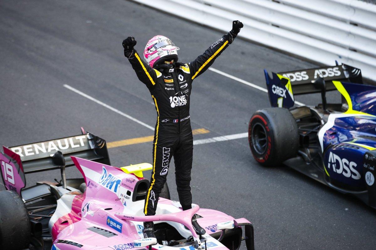 Le regretté pilote français Anthoine Hubert, vainqueur de la course principale en Formule 2 à Monaco en 2019