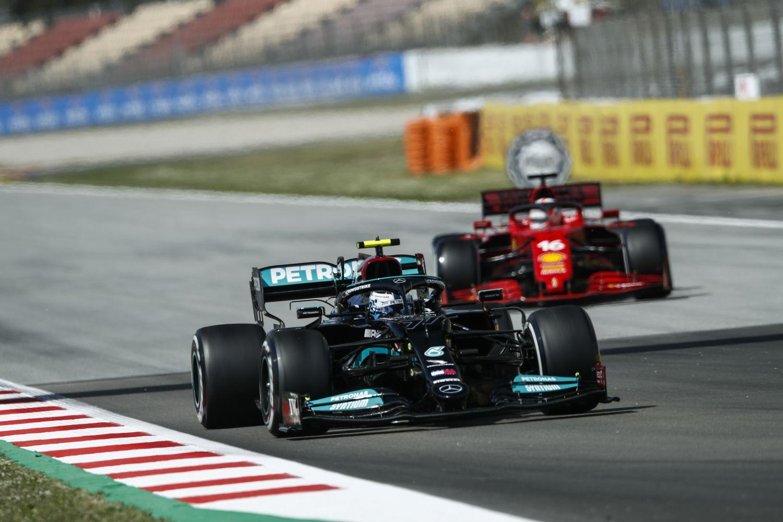 Valtteri Bottas aura eu du mal à se défaire de la Ferrari de Charles Leclerc