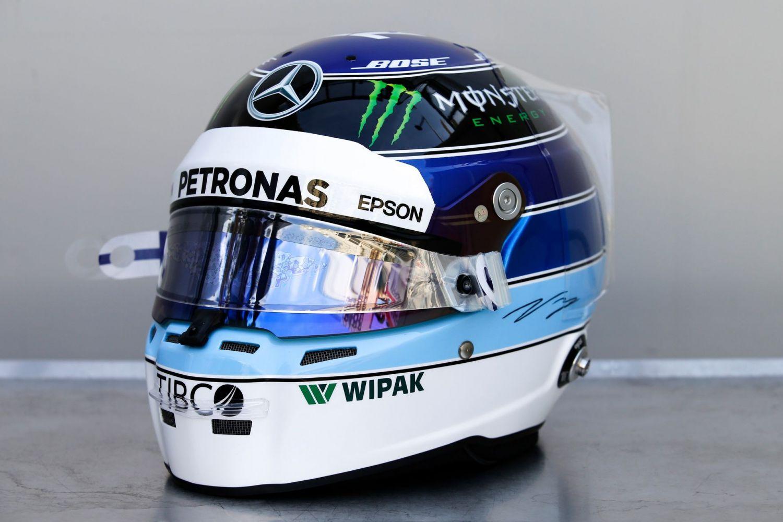 Le casque hommage de Valtteri Bottas à Mika Häkkinen